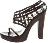 Hussein Chalayan Patent Leather Cutout Sandals