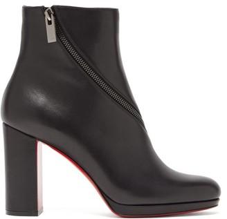 Christian Louboutin Birgitta 100 Leather Ankle Boots - Black