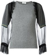 Aviu tulle sleeve sweater