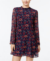 Speechless Juniors' Printed Mock-Neck Shift Dress, A Macy's Exclusive