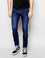 Pull&bear Super Skinny Jeans In Mid Wash