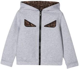 Fendi Kids Monster Eyes Print Sweatshirt