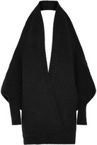 Chalayan Open-back Merino Wool And Cashmere-blend Sweater - Black