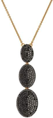 Links of London Yellow Gold Vermeil and Diamond Concave Lariat Necklace