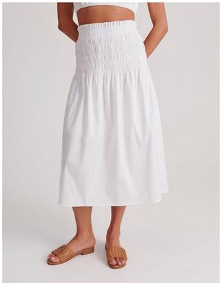 Miss Shop Shirred Midi Skirt