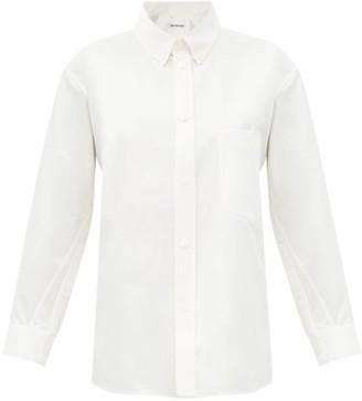 Balenciaga Asymmetric Cotton-poplin Shirt - White