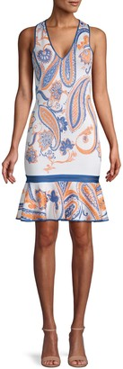Roberto Cavalli Paisley-Print Ruffled Dress