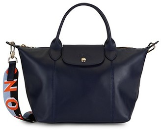 Longchamp Leather Convertible Shoulder Bag