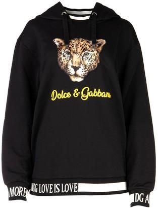 Dolce & Gabbana Leopard Patch Hoodie