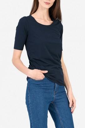 Everlane The Pima Stretch Mid-Sleeve T-Shirt