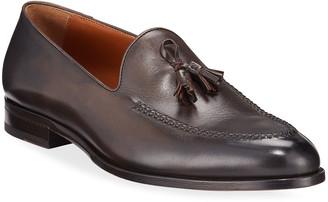 Ermenegildo Zegna Men's Leather Tassel Loafers