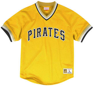 Mitchell & Ness Men Pittsburgh Pirates Mesh V-Neck Jersey