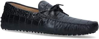 Tod's Croc-Embossed Gommino Driving Shoes