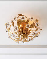 Crystal Flower Flush-Mount Light Fixture