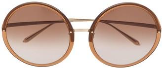 Linda Farrow Kew round-frame sunglasses