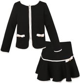 Richie House Girls' Elegant Knit Suit with Skirt RH1963-E-11/12