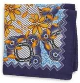 Eton Men's Floral Wool & Silk Pocket Square