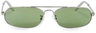 Balenciaga 61MM Narrow Wire Oval Sunglasses