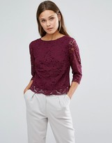 Oasis Lace Top Shell Top