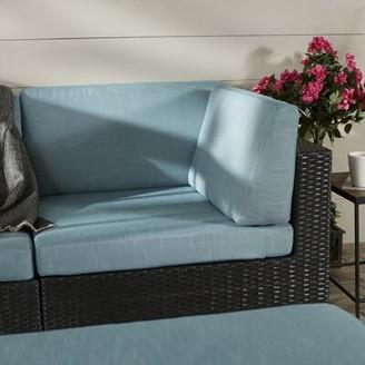 Chretien Patio Corner Seat Chair with Cushion Brayden Studio