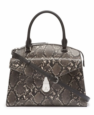 Calvin Klein Lock Candy Python Medium Statement Satchel
