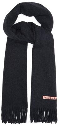 Acne Studios Canada New Narrow Fringed Wool Scarf - Black