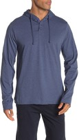 Unsimply Stitched Soft Henley Lounge Hoodie