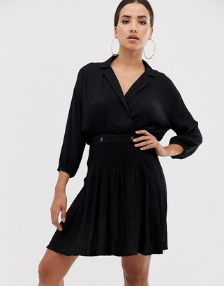 ASOS DESIGN casual wrap mini tea dress