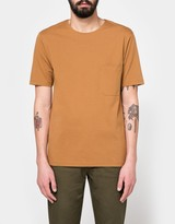 Lemaire Pocket Tee Shirt in Tobacco