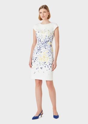 Hobbs Fiona Cotton Blend Floral Shift Dress