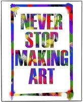 "Old Glory Never Stop Making Art Framed Wall Art - 11"" x 17"""