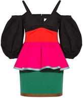 Isa Arfen Off-The-Shoulder Colour-Block Mini Dress
