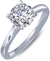Lafonn Micro Pave Simulated Diamond Sterling Silver Engagement Ring