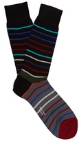 Paul Smith Echo-striped cotton-blend socks