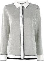 Giorgio Armani stripe stitched shirt - women - Cotton/Polyester - 42