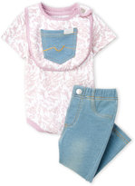 7 For All Mankind Newborn/Infant Girls) 3-Piece Printed Bodysuit & Leggings Set