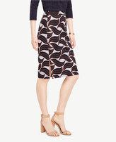 Ann Taylor Curvy Leaf Swirl Pencil Skirt