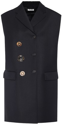 Miu Miu Embellished virgin wool vest