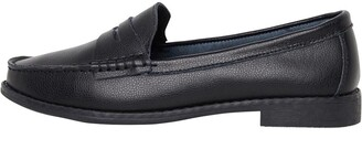 Onfire Womens Leather Penny Loafers Black