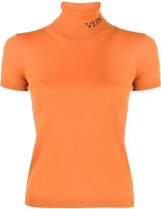 Valentino VLTN-intarsia roll-neck top