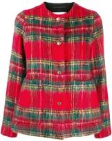 MACKINTOSH BETTYHILL Royal Stewart Wool & Mohair Collarless Jacket | LM-1002F