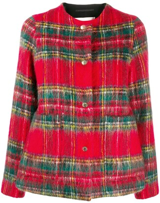 MACKINTOSH BETTYHILL Royal Stewart Wool & Mohair Collarless Jacket LM-1002F