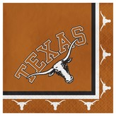 NCAA 20ct University of Texas, Austin Cocktail Beverage Napkins