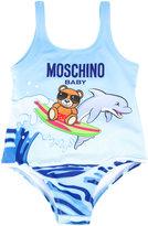 Moschino Kids dolphin print swimwuit