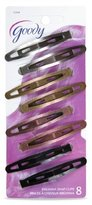 Goody Womens Classic Oval Metal Contour Clip - Assorted Colors - 2 Packs Of 8 Count = 16 Count