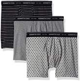Kenneth Cole New York Men's Boxer Brief Set Stripe and Diamond