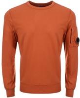 C.P. Company Crew Neck Goggle Sweatshirt Orange