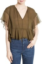 Rachel Comey Women's Floater Ruffle Silk Top