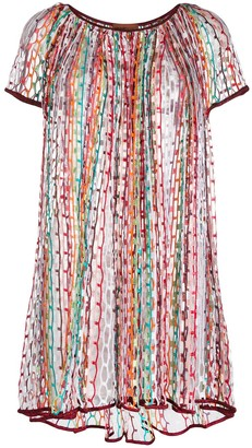Missoni Mare Embroidered Stripe Dress