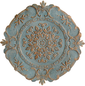Stratton Home Decor Blue European Medallion